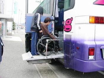 リフト付き福祉観光バス1